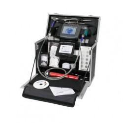 Профессиональный набор анализатора дымовых газов Wöhler A 600 Profiset с термопринтером для немедленной подготовки отчетов